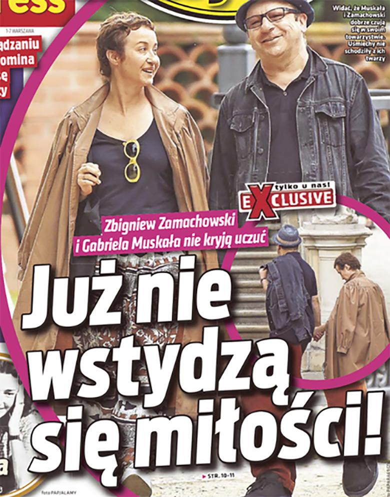 Zbigniew Zamachowski i Gabriela Muskała trafili na okładkę tabloidu