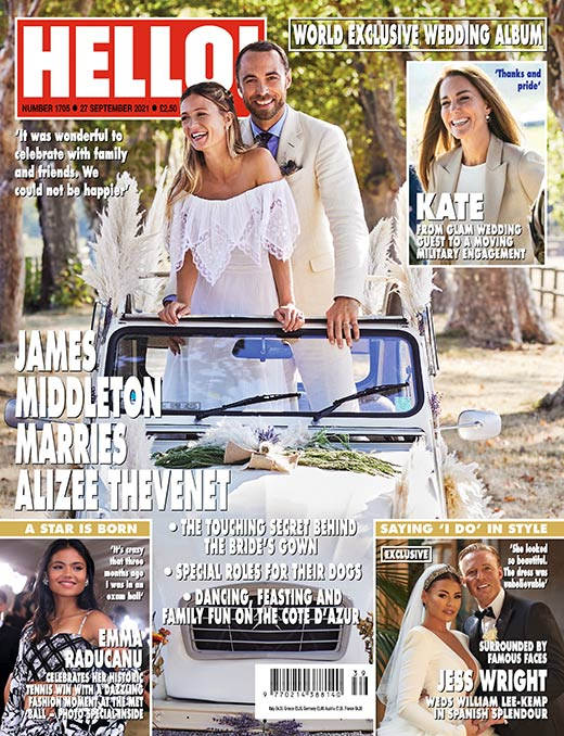 James Middleton z żoną na okładce Hello