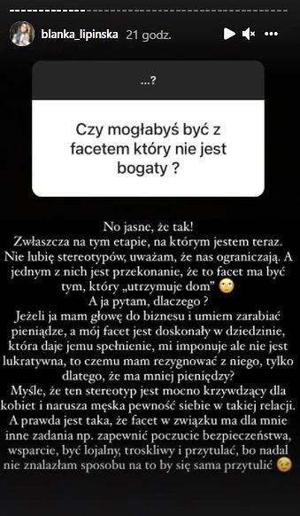 Blanka Lipińska o wymarzonym partnerze