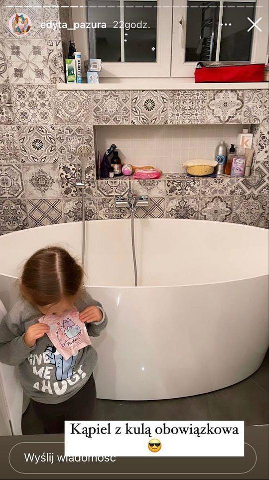 Edyta Pazura pokazała łazienkę