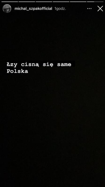 Michał Szpak. Skrin z InstaStories
